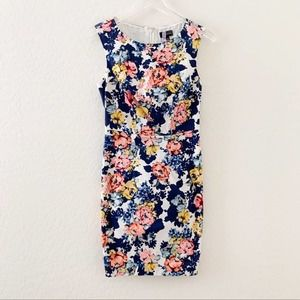 The Limited floral formal career sheath dress